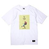 [앱놀머씽] Pushoff T-Shirt (White) 반팔티셔츠