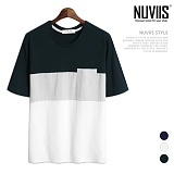뉴비스 - 삼색 포켓 반팔티셔츠 (MZ068TS)
