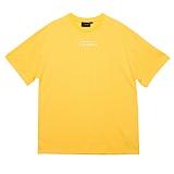 [블랙후디]BLACKHOODY LINE LOGO TOUR 1/2 TEE YELLOW 반팔티 티셔츠