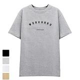 [DISCENE]디씬 워크하드 반팔 티셔츠 그레이