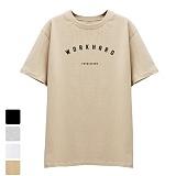 [DISCENE]디씬 워크하드 반팔 티셔츠 베이지