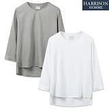 [해리슨] 린넨 7부 티셔츠 TBC1002