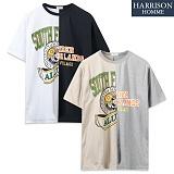 [해리슨] 하프나염 라운드 반팔 티셔츠 NWS1083