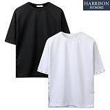 [해리슨] 사각찡 라운드 반팔 티셔츠 MJB1244