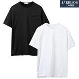 [해리슨] 구멍 포켓 위싱 라운드 반팔 티셔츠 MJB1241