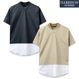 [해리슨] 셔츠 레이어드 반팔 티셔츠 CS1291