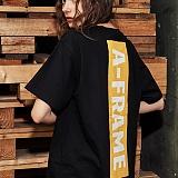 [어나더프레임] ANOTHER FRAME - BIG LOGO T-SHIRT (BLACK) 반팔 반팔티 티셔츠