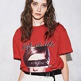 [어나더프레임] ANOTHER FRAME - BIG FACE AF T-SHIRT (RED) 반팔 반팔티 티셔츠