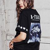 [어나더프레임] ANOTHER FRAME - PAINT LINE T-SHIRT (BLACK) 반팔 반팔티 티셔츠
