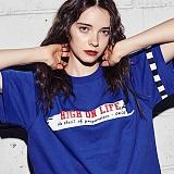 [어나더프레임] ANOTHER FRAME - PAINT LINE T-SHIRT (BLUE) 반팔 반팔티 티셔츠