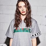 [어나더프레임] ANOTHER FRAME - PAINT LINE T-SHIRT (M.GRAY) 반팔 반팔티 티셔츠