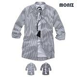 [모니즈] 7부 스트라이프 히든차이나셔츠 (2color) SHB857