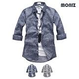 [모니즈] 7부 불티 슬라브 셔츠 (2color) SHB855