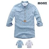 [모니즈] 7부 피플 헨리넥 린넨셔츠 (2color) SHB844