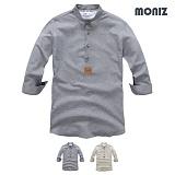 [모니즈] 7부 스트라이프 헨리넥 린넨셔츠 (2color) SHB840