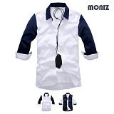 [모니즈] 7부 배색 셔츠 (2color) SHB830
