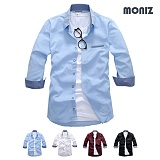 [모니즈] 7부 페이크포켓 셔츠 (4color) SHB829