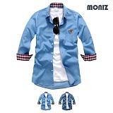 [모니즈] 7부 로젠 데님셔츠 (2color) SHB827