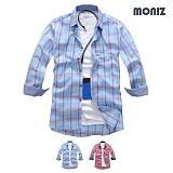 [모니즈] 7부 소프트 체크 셔츠 (2color) SHB811