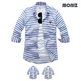 [모니즈] 7부 마린 단가라 린넨셔츠 (2color) SHB805