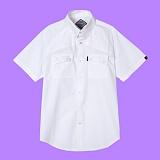[슈퍼레이티브] superlative - [S] UNISEX 베이직 투포켓 반팔 셔츠 - 셔츠 - 화이트