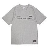 [앱놀머씽] Be Original T-Shirts (Gray) 반팔티셔츠