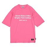 [앱놀머씽] Addison Raglan T-Shirts (Pink) 반팔티셔츠