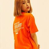[디플로우]DEFLOW - DEFLOW 17S/S LOGO T-SHIRT(ORANGE) 반팔티 티셔츠