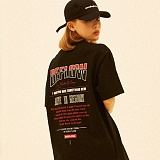[디플로우]DEFLOW - COZY LYRICS T-SHIRT(BLACK) 반팔티 티셔츠