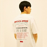 [디플로우]DEFLOW - COZY LYRICS T-SHIRT(WHITE) 반팔티 티셔츠