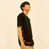 [디플로우]DEFLOW - EDGE LOGO T-SHIRT(BLACK) 반팔티 티셔츠