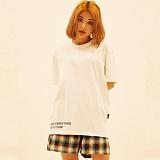 [디플로우]DEFLOW - EDGE LOGO T-SHIRT(WHITE) 반팔티 티셔츠