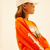 [디플로우]DEFLOW - YOUTH FESTIVAL LONGSLEEVE(ORANGE) 긴팔티