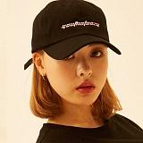 [디플로우]DEFLOW - RED LINE CAP(BLACK) 볼캡 모자
