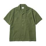 파르티멘토 - 4pocket Open Collar Shirts Khaki 오픈카라셔츠