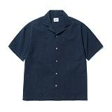 파르티멘토 - 4pocket Open Collar Shirts Navy 오픈카라셔츠
