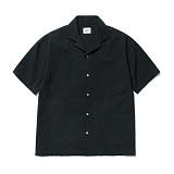 파르티멘토 - 4pocket Open Collar Shirts Black 오픈카라셔츠