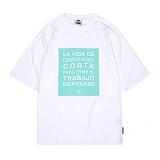 [앱놀머씽] Corta Raglan T-Shirts (White) 반팔티셔츠