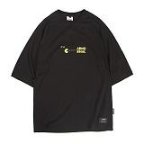 [앱놀머씽] Pacman Raglan T-Shirts (Black) 반팔티셔츠