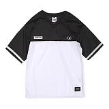 [앱놀머씽] Securite Mash T-Shirts (Black)  반팔티셔츠