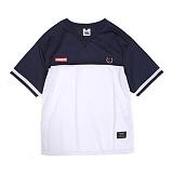 [앱놀머씽] Securite Mash T-Shirts (Navy) 반팔티셔츠