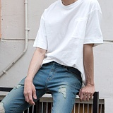 [모니즈] 무지 포켓 반팔 티셔츠 (4color) TSB074