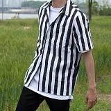 [모니즈] 빅 스트라이프 반팔 셔츠 (4color) SHT578