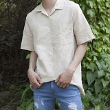 [모니즈] 린넨 반팔 셔츠 (2color) SHT575