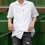 [모니즈] 스트라이프 와이 반팔 셔츠 (5color) SHT573