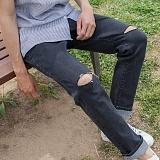 [모니즈] 무릎 커팅 청바지 (2color) PDN279