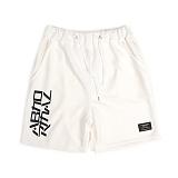 [앱놀머씽] Logo Comfy Shorts (White) 반바지