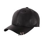 [트립션] TRIPSHION - TRIPSHION LEATHER PIERCING BALLCAP 피어싱 레더 가죽 볼캡 모자