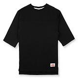 [핍스] PEEPS unbalance 3/4 short sleeved TEE(gray)_핍스 반팔티