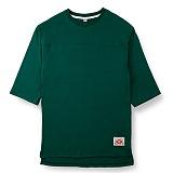 [핍스] PEEPS unbalance 3/4 short sleeved TEE(green)_핍스 반팔티